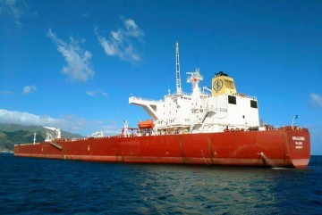 """El petrolero """"Bacaliaros"""", fondeado al resguardo de Anaga"""