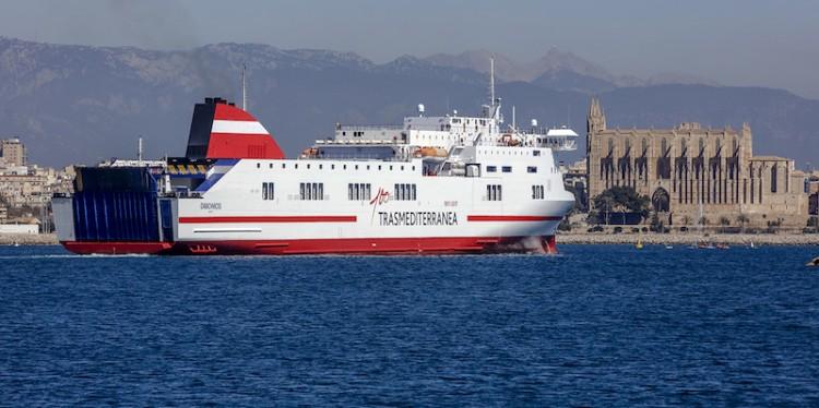 """El buque """"Dimonios"""" refuerza la línea Palma-Barcelona"""