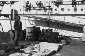 Los cambulloneros forman parte indisoluble de la historia portuaria