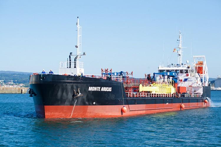 """El buque """"Monte Arucas"""", ex """"Urania Mella"""", será adaptado para el suministro de gas natural licuado"""