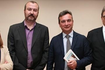 De izq. a dcha: Francisca Fuentes, Víctor M. Marí Sáez, Eduardo González Mazo y Daniel García Gómez de Barreda