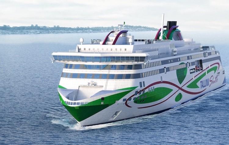"""El ferry """"Megastar"""", construido en Finlandia, uno de los más recientes en propulsión dual"""