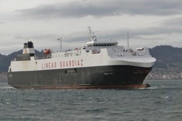 """El buque """"Suar Vigo"""", adscrito a la línea Vigo-Tánger Med"""