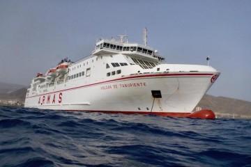 """El buque """"Volcán de Taburiente"""" realizará un viaje especial el próximo sábado en la línea Las Palmas-Morro Jable"""
