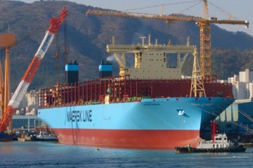"Esta es la estampa marinera del buque ""Madrid Maersk"""