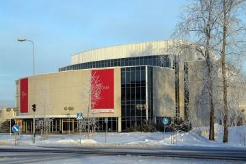 Auditorio de Oulu. La sala principal rinde homenaje a la memoria de Leevi Madetoja