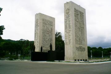 Cuerpo central del Paseo de los Próceres. Exaltación del sentimiento nacionalista