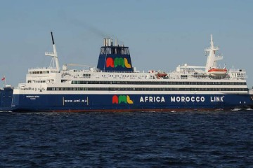 """El buque """"Morocco Star"""", visto en toda su eslora por la banda de estribor"""
