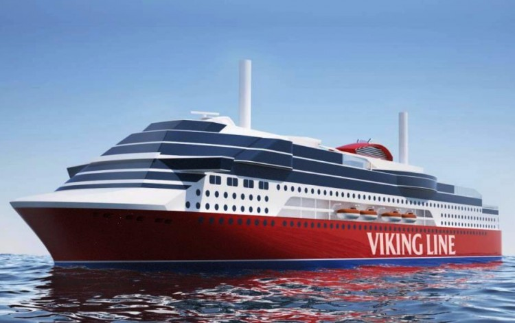 Boceto del futuro ferry de Viking Line que será construido en China