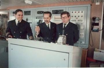 De izq. a dcha: Manuel González Pérez, Arcadio Domínguez Legunda y José Luis Solagaistúa Ayo