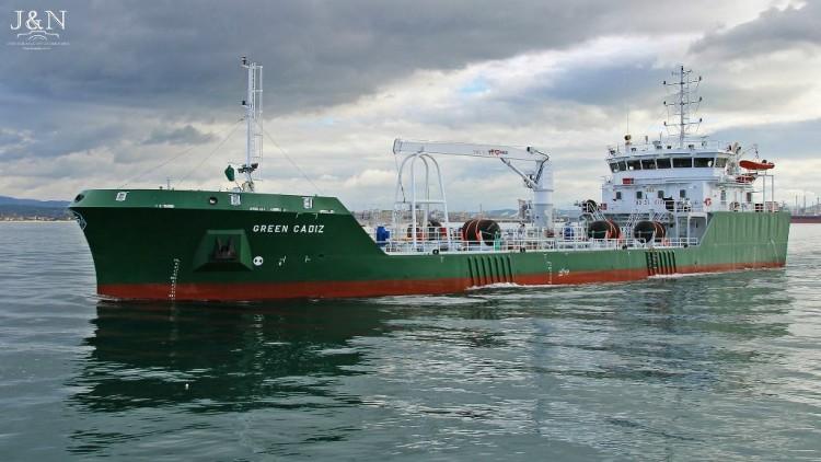 """El buque """"Green Cádiz"""", a su llegada al puerto de Algeciras"""