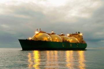 """El buque """"LNG Sokoto"""", fondeado en Santa Cruz de Tenerife"""
