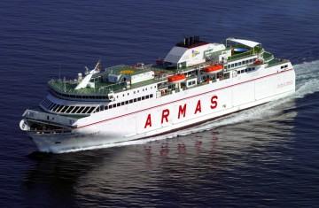 """El ferry """"Volcán de Tamasite"""",  protagonista de un incidente muy serio"""