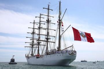 """El buque-escuela peruano """"Unión"""" visitará tres puertos españoles"""