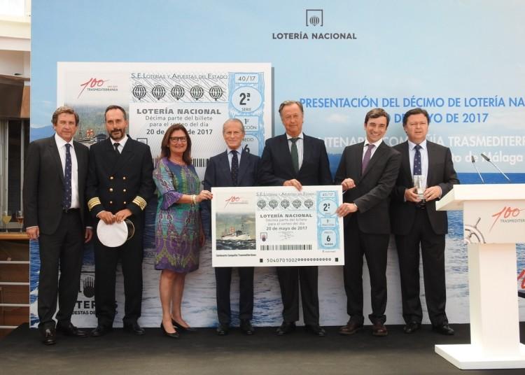 """La presentación del décimo de lotería se presentó a bordo del ferry """"Sorolla"""""""