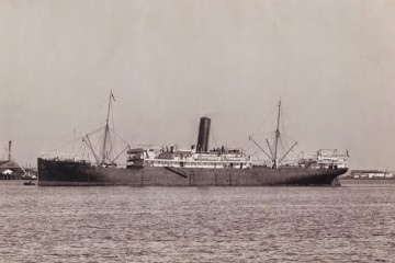 """Estampa marinera del trasatlántico """"C. de Eizaguirre"""""""