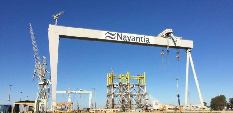 """El montaje del petrolero """"Monte Udala"""" se realiza en el astillero de Navantia Puerto Real"""