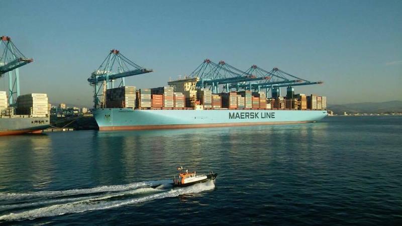 """Primera escala del buque """"Madrid Maersk"""" en Algeciras"""