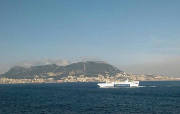 "El ferry jordano ""Aylah"", navegando rumbo a Algeciras"