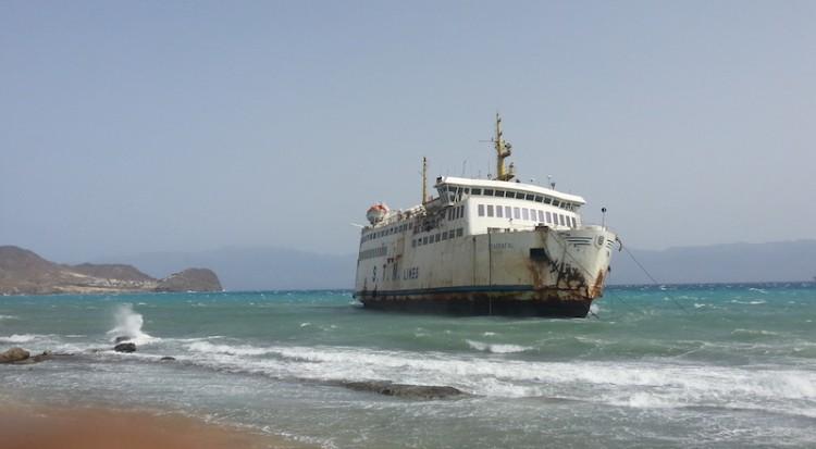 """Estado en el que quedó el buque """"Tarrafal"""", tras su varada en Cabo Verde"""
