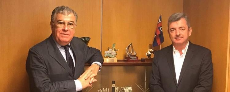Manuel Carlier y Eduardo Bezares, en el reciente encuentro mantenido en Madrid
