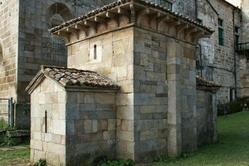 Aspecto exterior de la capilla de San Miguel de Celanova