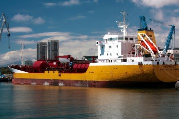 """El petrolero """"Hespérides"""" es el tercero con este nombre en la historia de Distribuidora Marítima Petrogás"""
