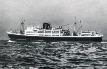 """Estampa marinera del buque """"Satrústegui"""", donde ocurrió el relato"""