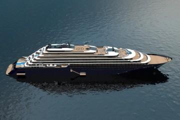"""Este será el aspecto exterior del futuro """"cruise yatch"""" que será construido en Barreras"""