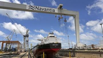 El primer petrolero de la serie flotará en septiembre próximo