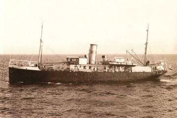 """Estampa marinera del vapor """"Lanzarote"""""""