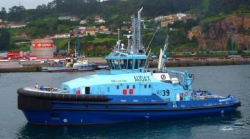 """El remolcador """"Audax"""", en pruebas de mar previas a su entrega"""
