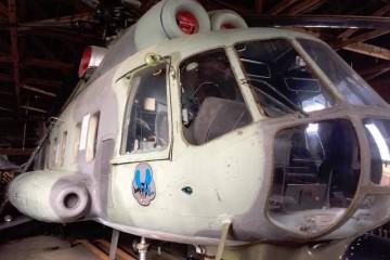 El helicóptero presidencial de Finlandia es una de las piezas del Museo de Aviación de Lahti
