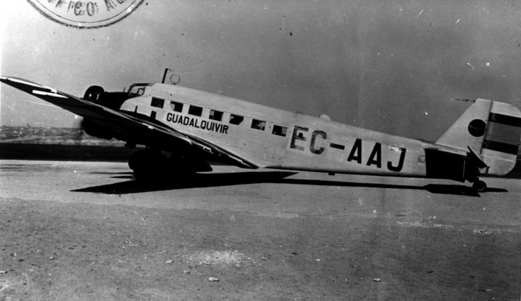 Avión Junkers Ju-52 de Iberia, en la inmediata posguerra