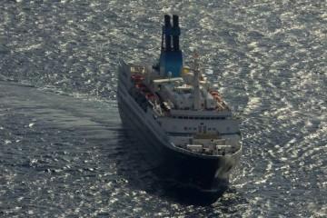 """El buque """"Saga Pearl II"""", a su llegada a La Palma"""