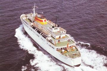 """Vista aérea del buque """"Ciudad de La Laguna"""""""