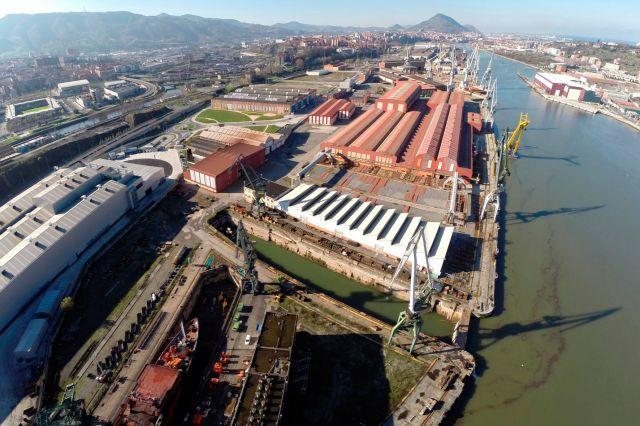 Panorámica del astillero Construcciones Navales del Norte