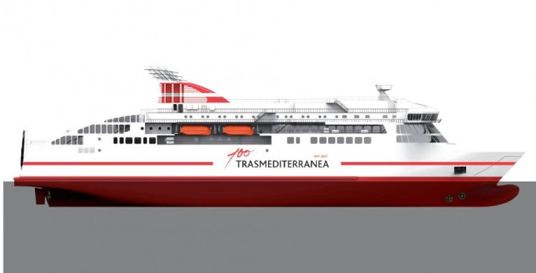 Trasmediterránea es una de las navieras que tiene flota en construcción