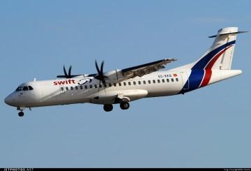 Este es el avión EC-KKQ, envuelto en el incidente relatado