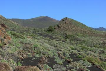 Paisaje volcánico de la banda oriental de Fuencaliente