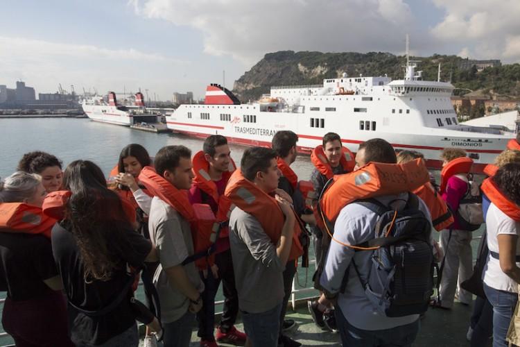 Medio millar de personas participaron en el ejercicio de evacuación