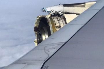 Así quedó el motor número 4 tras la pérdida de varios componentes