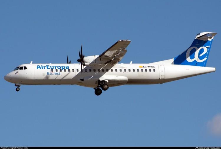 Air Europa Express iniciará su operativa en Canarias con dos aviones ATR-72