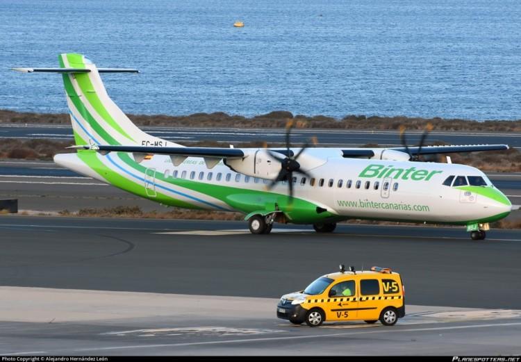 ATR-72 serie -600 EC-MSJ de Binter, recién estrenado