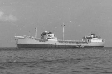 """El petrolero """"Ciudad Rodrigo"""", en la época de sus viajes a Guinea española"""
