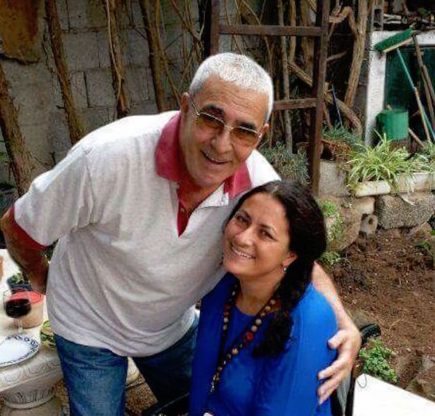 Juan Manuel Pino Martín, junto a su hija María Pino Brumberg
