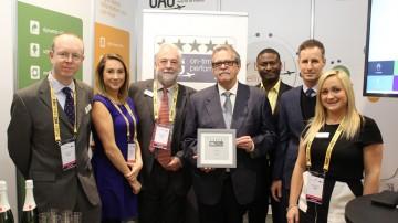 José Antonio Carrillo Romero, director de Operaciones de Canaryfly, recogió el reconocimiento de IATA