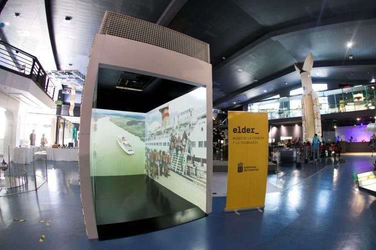"""""""El cubo"""" con el audiovisual de Trasmediterránea está en el Museo Elder"""