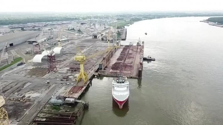 El dique flotante de Palumbo abrirá un nuevo ciclo en el puerto de Santa Cruz de Tenerife