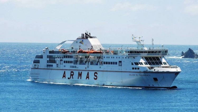 """El ferry """"Volcán de Taburiente"""" cubrirá la línea directa Los Cristianos-La Palma"""